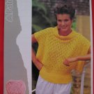 "Patons Lady's Lacy Top Sweater Vintage Knitting Patterns Ladies Sizes 32"" - 38"""