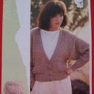 "Vintage Patons Lady's Teens V Neck Cardigan Sweater Knitting Pattern Ladies Sizes 28"" - 38"""