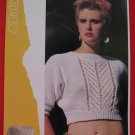 "Patons Lady's Teens Cropped Midriff Dolman Sweater Knitting Pattern Ladies Sizes 30"" - 38"""