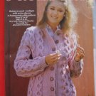 "Pingouin Lady's Cardigan Sweater Honeycomb Cable Knitting Pattern Ladies 32"" - 40"""