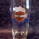 Harley Davidson Motorcycles Miller Genuine Draft Beer Glass Souvenir Collector
