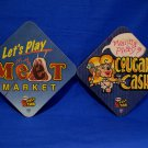 Pull Tabs Beer Coasters Souvenir set of 2 Cougar Cash Meet Market Collector Vintage