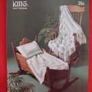 King Crocheted Crochet Patterns Baby Carriage Bassinet Cover Shawl Afghan Pillow Cover