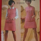 "Patons Ninepin Midi Vintage Knitting Patterns Cardigan Sweater Skirt Ladies Bust 33"" - 40"""