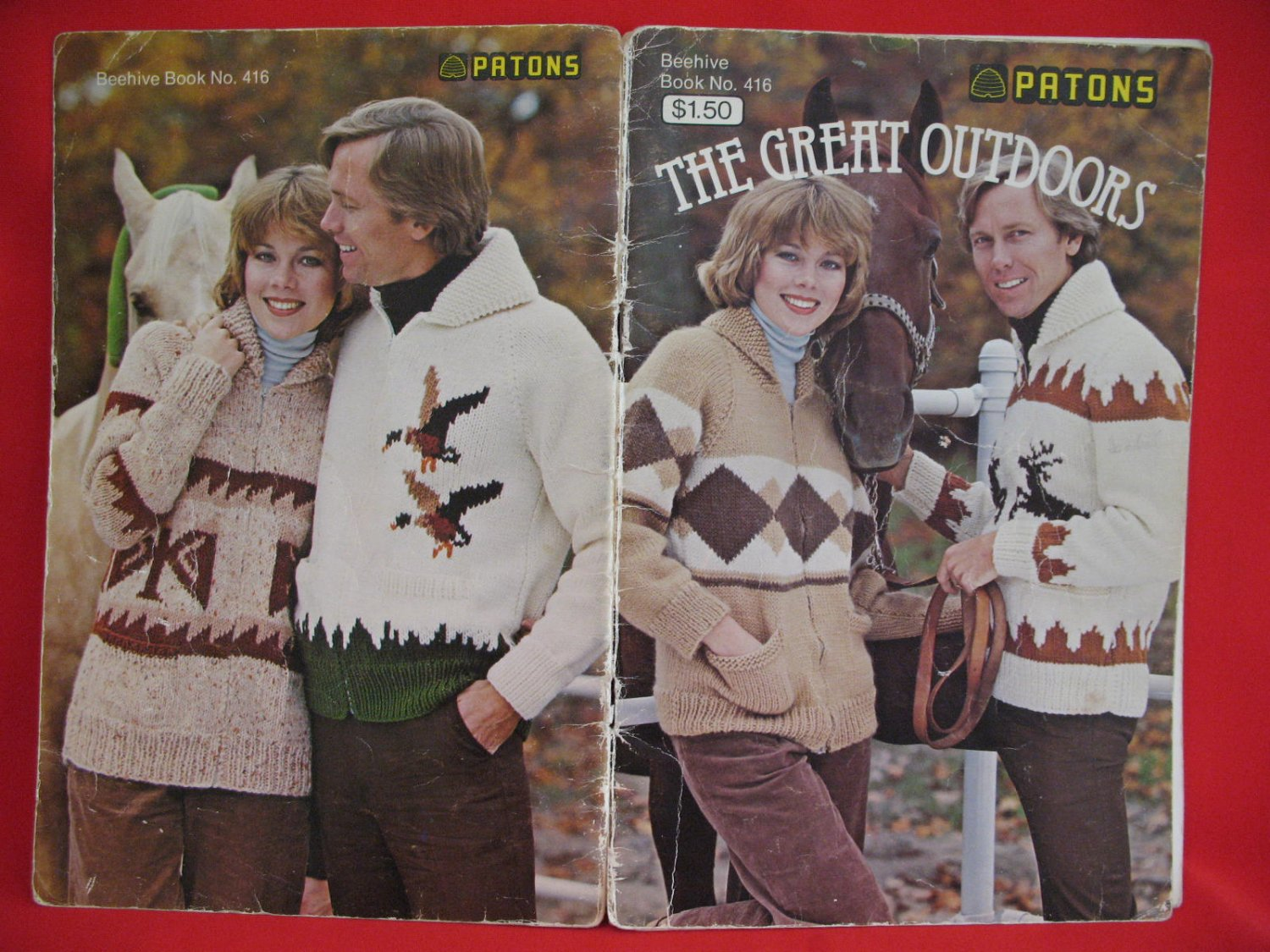 """Patons Beehive Vintage Knitting Patterns Adults Cowichan Sweaters 32"""" - 46"""""""