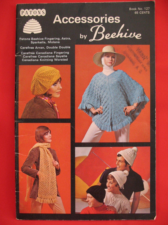 Beehive RETRO Vintage Knitting Crochet Patterns Adults Children Capes Socks Berets Stoles Poncho etc