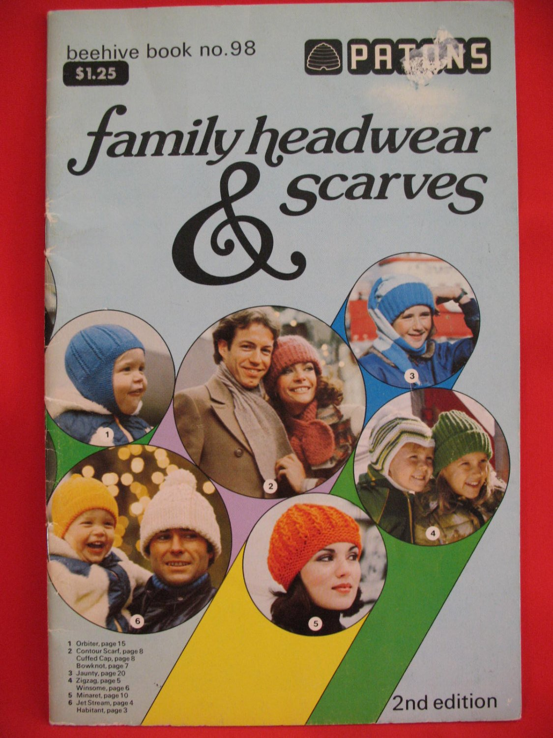 Patons Beehive Vintage Knitting Patterns Adults Children Scarves Caps Tams Balaclavas Toques