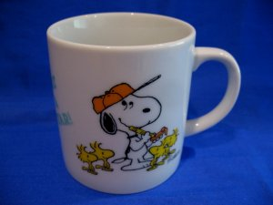 Vintage Peanuts Snoopy Coffee Mug Tea Cup Souvenir It's Great To Be A Superstar!