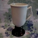 Brown and Beige Pedestal Vintage HALL Coffee Mug Cup Collector