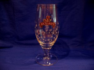 Rickards Beer Glass Souvenir of Canada Snowflakes Design Let It Snow