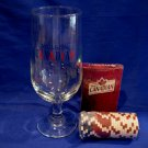 Molson Canadian Beer Glass with Canada Souvenir Poker Chips and Deck of Cards