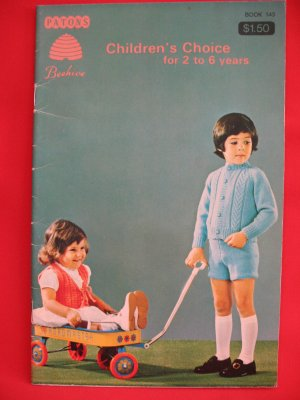 Patons Beehive Vintage Knitting Crocheting Patterns CHILDRENS 2 - 6 Years Dress Cardigans Sweaters