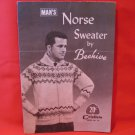 Chieftain Beehive Vintage Knitting Patterns MENS ADULTS Norse Sweater