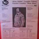 White Buffalo Cowichan Style Vintage Knitting Patterns MENS ADULTS Pullover Sweater