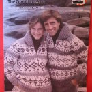 White Buffalo Cowichan Vintage Knitting Patterns ADULTS Pullover Sweater Bomber Jacket Cardigan