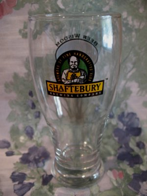Shaftebury Beer Glass Canada Souvenir Collector He Is A Wise Man Who Invented Beer