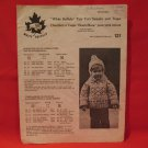 Vintage White Buffalo Cowichan Knitting Patterns Tiny Tots Sweater and Toque SIZES 2 - 6