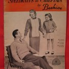 Vintage Speedknits Chieftain Beehive Knitting Patterns FAMILY Sweaters Jackets Slippers Toques etc