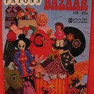 Patons Vintage Bazaar Book 50 Gifts Knitting Crochet Patterns Toys Baby Stuff Golf Club Covers etc