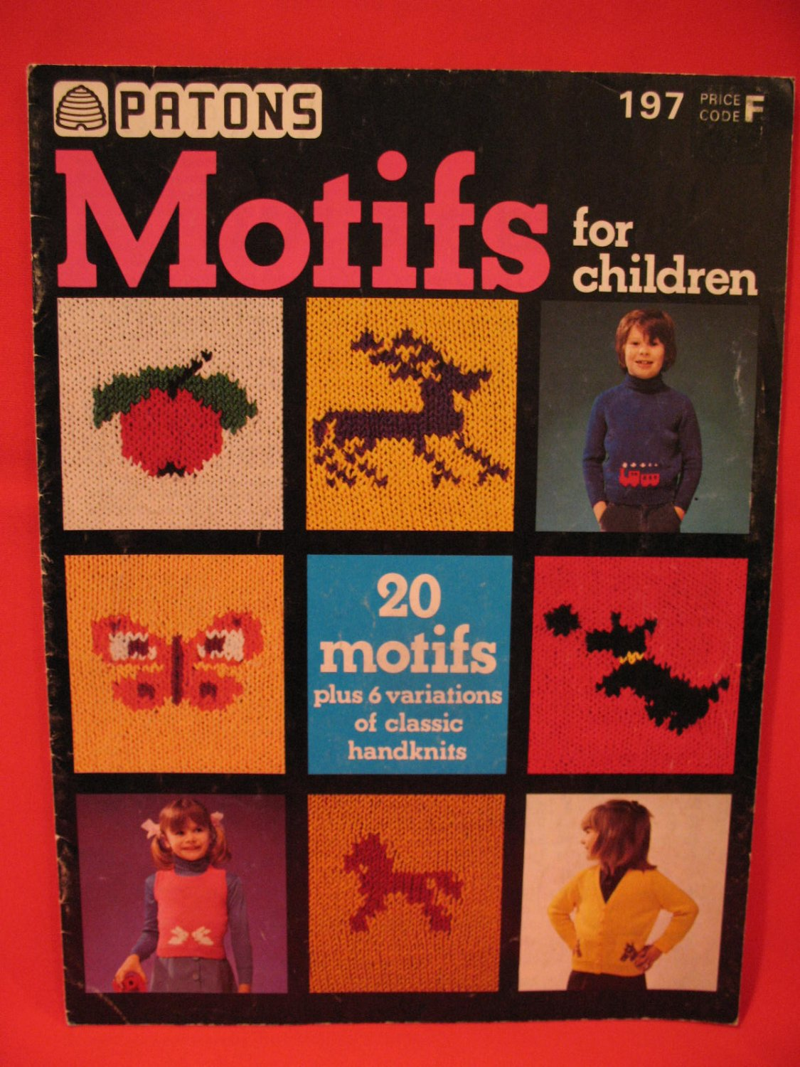 Vintage Patons Motifs Knitting Patterns CHILDREN Animals Soldier Sailor Butte...