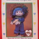 Vintage Blueberry Cupcake Doll Crochet Pattern Lollipop Lane Crocheting
