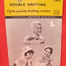 Mary Maxim Vintage Double Knitting Patterns CHILDRENS Hats Mitts