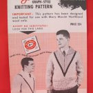 Mary Maxim Graph Style Pullover Sweater Vintage Knitting Patterns ADULTS Mens Milano