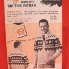 Mary Maxim Graph Style Cardigan Sweater Vintage Knitting Patterns ADULTS Mens Saranac