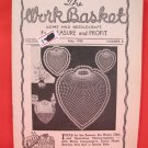 Vintage WORK BASKET Magazine Patterns May 1948