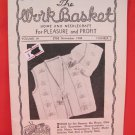 Vintage WORK BASKET Magazine Patterns November 1948
