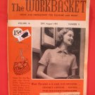 Vintage WORK BASKET Magazine Patterns August 1951
