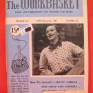 Vintage WORK BASKET Magazine Patterns September 1951