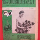 Vintage WORK BASKET Magazine Patterns October 1951