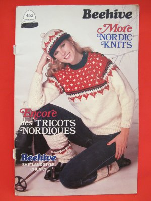 Beehive Nordic Knits Knitting Patterns FAMILY Sweaters Jackets Cardigans