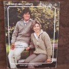 Vintage Bouquet Knitting Patterns Bulky ADULT Sweater Jackets