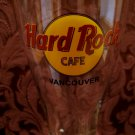 VANCOUVER BC. Hard Rock Cafe Pilsner Glass Souvenir Canada CLOSED Collector