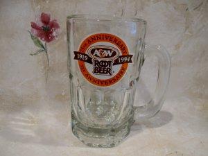 A&W ROOT BEER Mug 75 Year ANNIVERSARY CANADA Souvenir Glass