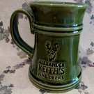 ALEXANDER KEITHS BEER Glass Stein Mug Canada GREEN Souvenir Collector