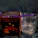 CROWN ROYAL Whisky Glass with HOCKEY STIR STICK Canadian Whiskey Collector Souvenir Set