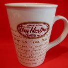 TIM HORTONS Coffee Mug Always Fresh Souvenir Number 9 LIMITED EDITION