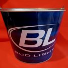 BUDWEISER BUD LIGHT BEER Ice Bucket Collector Tin Metal Souvenir BL BLUE