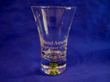 HOLLAND AMERICA Cruise Lines Ship Shot Glass Souvenir LIME GREEN Bubble Bead