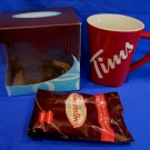 Tim Hortons Coffee Mug Cup TIMS Souvenir Number 13 Limited Edition Collector w/Coffee