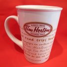 Tim Hortons Coffee Cup Coffe Mug Number 9 Limited Edition Road Trips