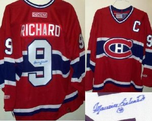 MAURICE RICHARD AUTOGRAPHED MONTREAL CANADIENS JERSEY