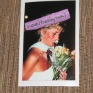 Princess Diana photo 4x6 ~ powder blue gown, flowers ~