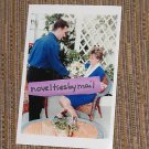 Princess Diana photo 4x6   ~ blue + white flowers ~