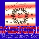 AMERICANA Natural Laundry Soap Powder SAMPLE Vegan 6 oz. 5-10 LOADS