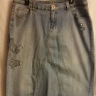 Premiere Avenue Jeans Denim Skirt sz 16
