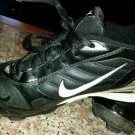 Nike Fuse baseball/softball cleats black/ silver size 4
